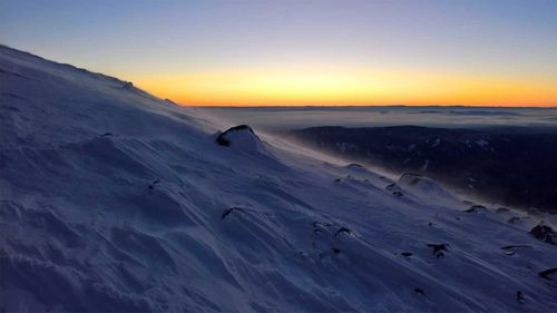 A photo of Mount Hood posted by Miha Sumi days before his death. (Facebook)