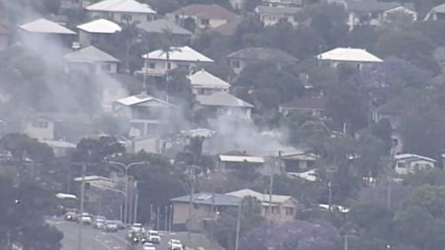 Smoke from the blaze. (9NEWS)