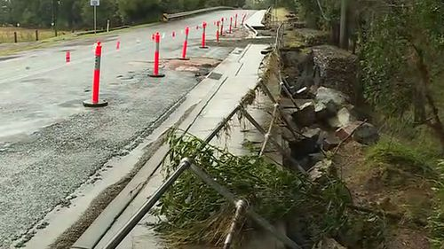 Parts of the NSW mid-north coast have seen more than a metre of rain. Pictured is damage in Port Macquarie.