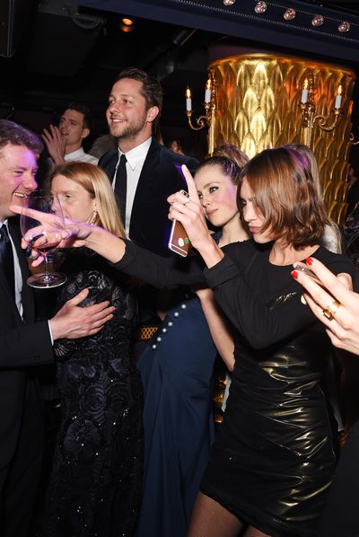 Derek Blasberg, Edie Campbell and Alexa Chung hit the dancefloor
