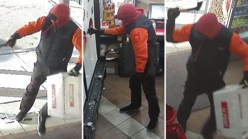 Hatchet wielding man robs supermarket in Melbourne's inner-west