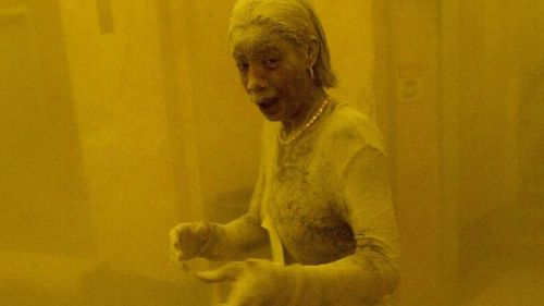 Marcy Borders, who died from stomach cancer in 2015, was photographed fleeing from the World Trade Center covered in ash and became known as the 'Dust Lady'