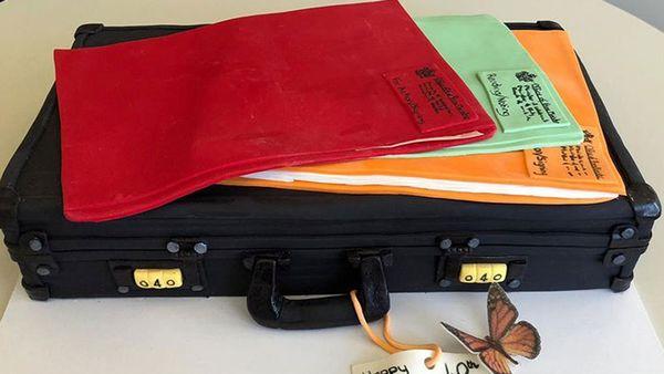 Jacinda Ardern's 40th birthday briefcase cake