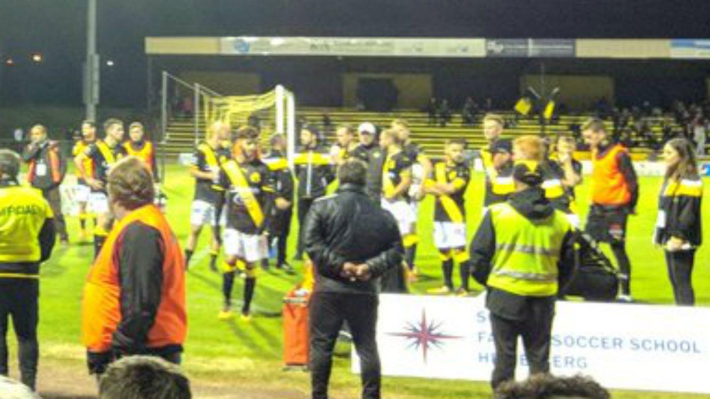 Heidelberg United players leave the field