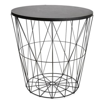 """Wire storage table in black, $19 <a href=""""http://www.kmart.com.au/product/wire-storage-table---black/807813"""" target=""""_blank"""">Kmart</a>"""