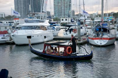 Although the motor helps to dodge the jet-skis and luxury yachts.