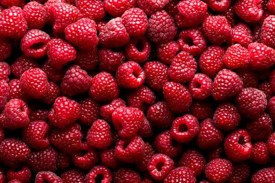 Half a cup of raspberries (62g): 4g fibre