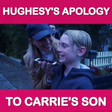 Carrie Bickmore and son Ollie Lange