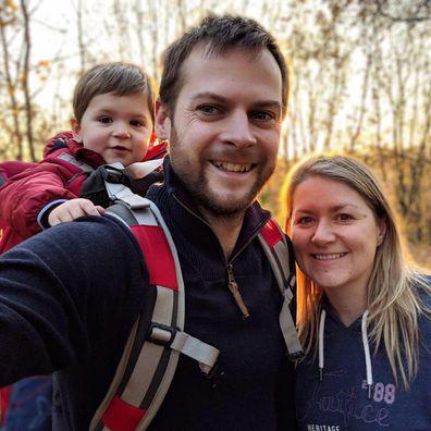 Rachel Molloy and Nick Molloy with son James