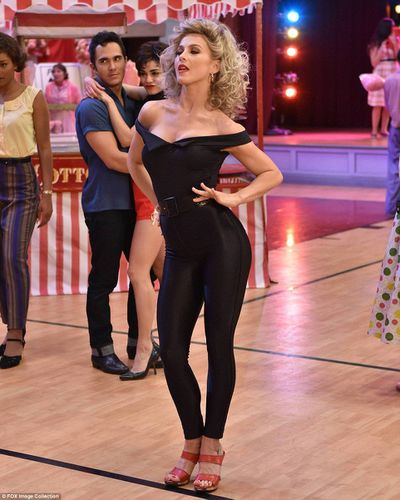 Actress and dancer Julianne Hough playing Sandy Olsson in <em>Grease: Live</em> in 2017