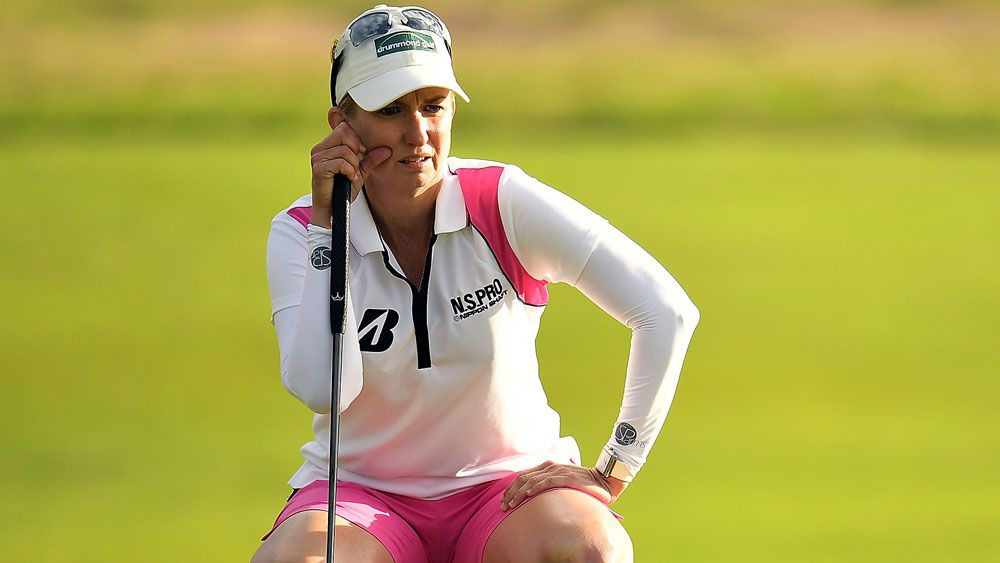 Karrie Webb had a first round to forget. (AAP)