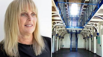 Debbie Kilroy and the inside of the Boggo Road jail where she served six years behind bars.
