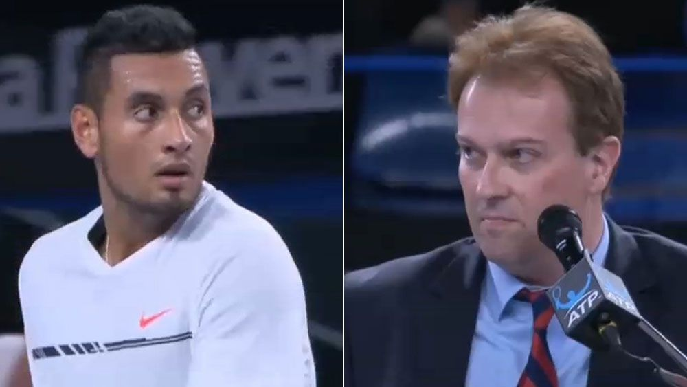 "Kyrgios tells umpire he's ""biased as s--t"""