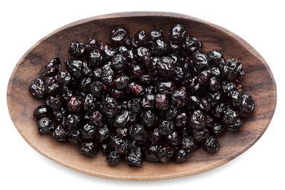 Dried blueberries: 67.5g sugar per 100g
