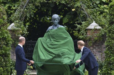 Princess Diana's statue unveiling, July