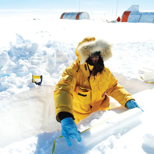 The ice cores contain will give a snapshot of the atmosphere from one million years ago.