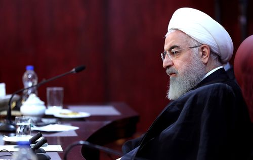 """Iran's President Hassan Rouhani says the US imposed sanctions will cause a """"war situation"""" in his country."""