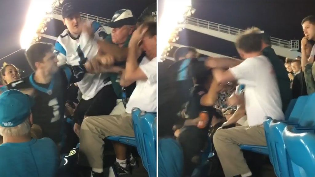 NFL investigating video of fan punching another man