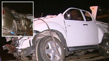 Two men killed after ute and car collision