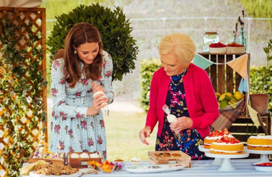 The royal couple joined Mary Berry for a Christmas special.