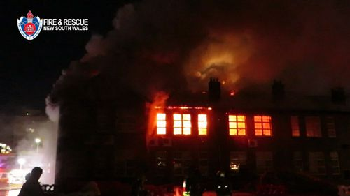 Damage to the school reached $10-million. Picture: 9NEWS