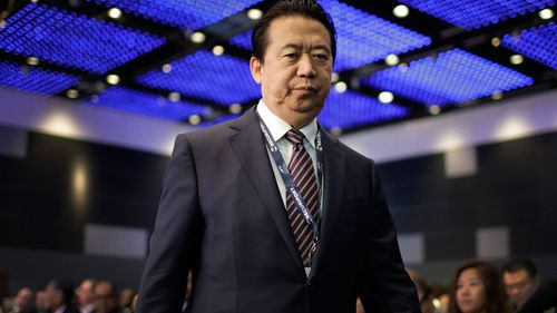 Meng Hongwei's wife reported that she had not heard from her 64-year-old husband since the end of September, when he left France.