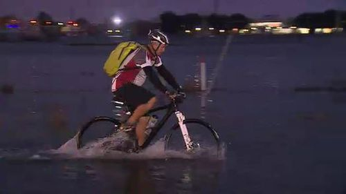 Residents are warned the flooding could get worse throughout the day. (9NEWS)