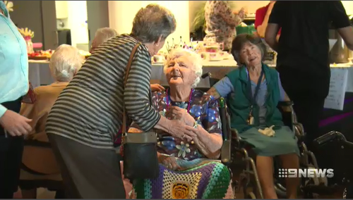 Mabel Crosby celebrated her 109th birthday today.
