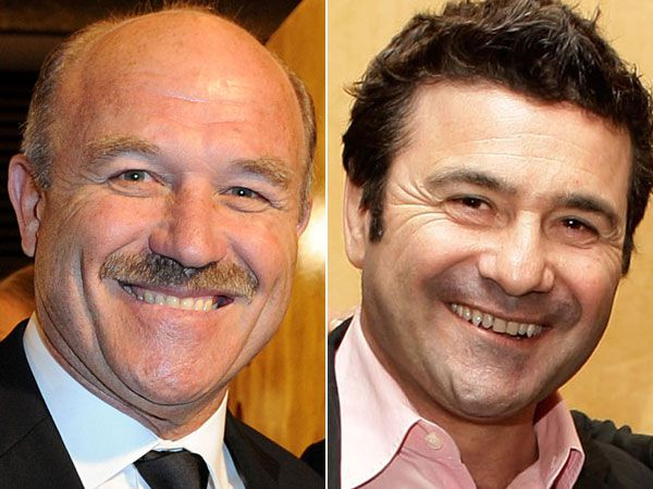 Wally Lewis (l) and Benny Elias. (AAP)