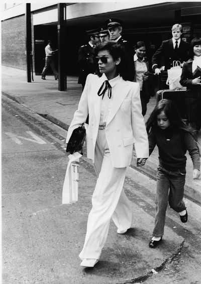 The combination of Bianca Jagger's striking beauty, strength and potent femininity coupled with a well-cut suit made this look a timeless classic.
