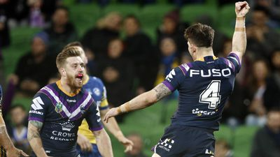 Courageous Melbourne Storm shrug off injuries to prevail over Parramatta Eels