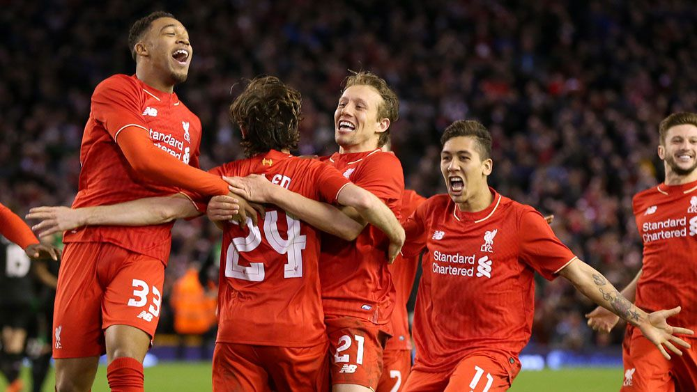 Joe Allen scored the decisive penalty. (AAP)