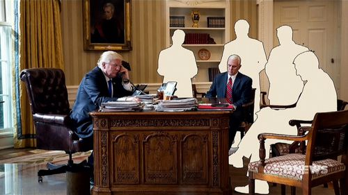 Since then, four of the five senior staffers have either resigned or have been fired. Vice President Mike Pence is the only one who remains.