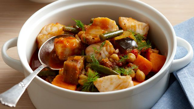Fish and eggplant stew for $9