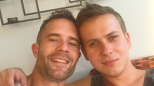 Lachlan Beaton (left) lives in New York with his partner. (Instagram)