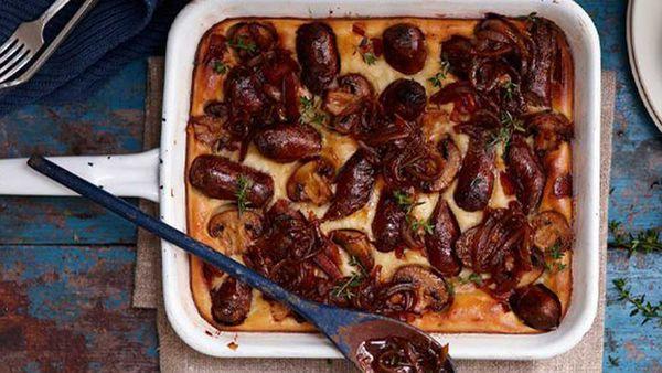 Yorkshire sausage bake