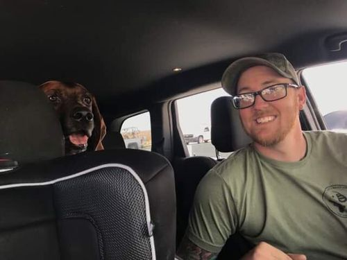 Volunteers drove the seven-year-old dog as far as they possibly could. Picture: Facebook