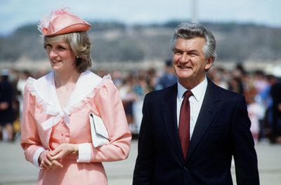 Bob Hawke & Princess Diana