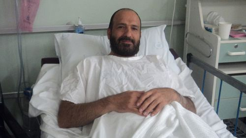 """Monis in hospital after collapsing in an apparent """"psychotic episode"""". (Supplied)"""
