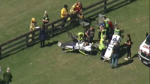 The patients are being transported to hospital, none have sustained serious injuries. (9NEWS)