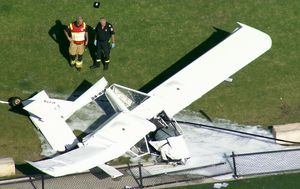 Two men injured after plane crashes into Sydney park
