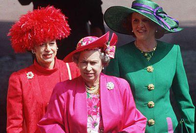 Princess Margaret, Queen Elizabeth II and Sarah, Duchess of York at Royal Ascot 1991
