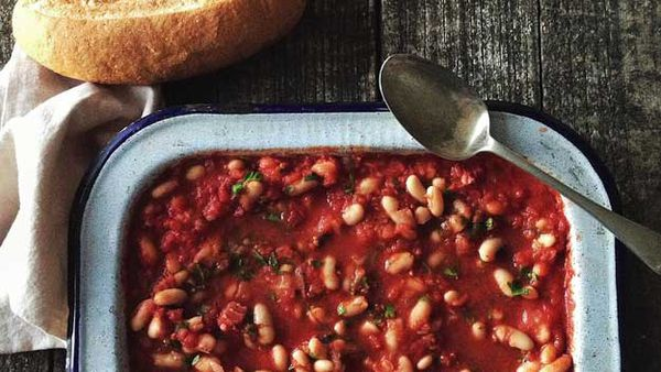 Delicious home-made baked beans