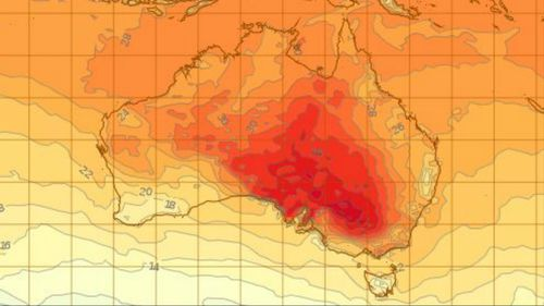 The strong heat afflicting parts of Australia. (BoM)