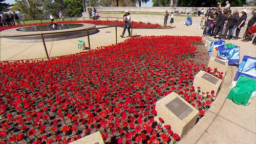 More than 62,000 poppies will be planted near the WA War Memorial before Sunday.
