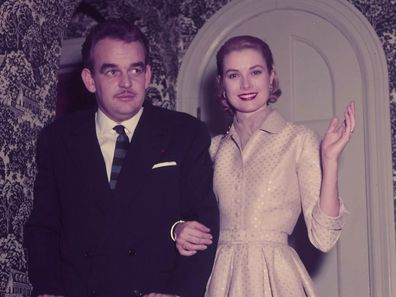 Grace Kelly and Prince Rainier announce their engagement, 1956