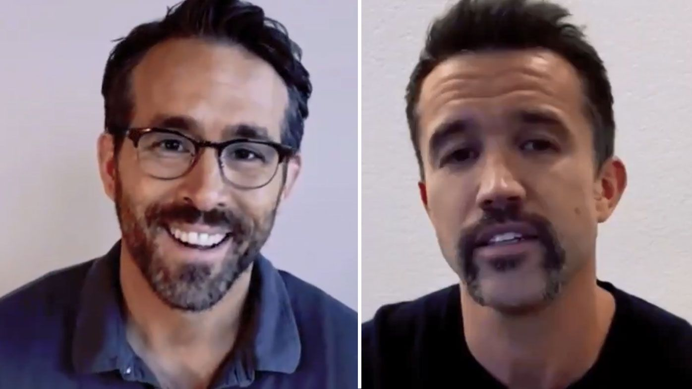Hollywood stars Ryan Reynolds and Rob McElhenney complete takeover of Welsh club Wrexham