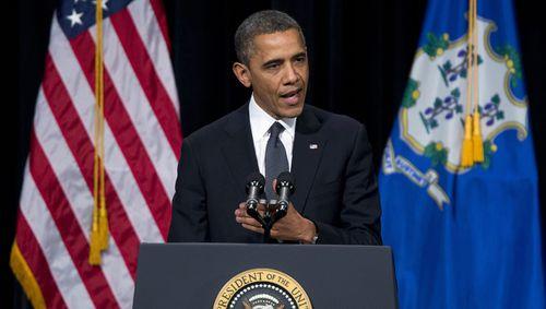 President Barack Obama addresses the nation after the Sandy Hook shooting