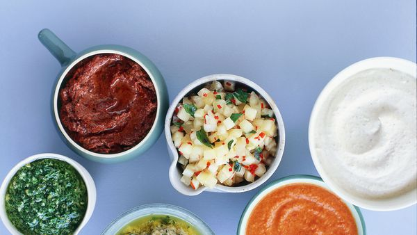 Selection of sauces, dressings and relishes