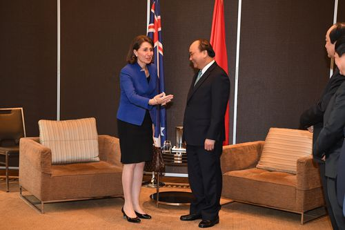 NSW Premier Gladys Berejiklian meets with Vietnamese Prime Minister Nguyen Xuan Phuc. Picture: AAP